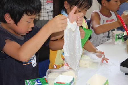 金沢大地でオーガニック大豆で豆腐作り体験・井村の食育