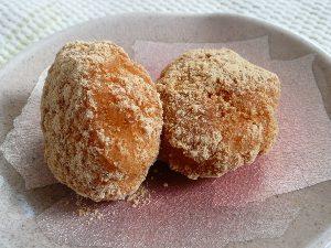 金沢大地の国産有機きな粉でキナコ餅